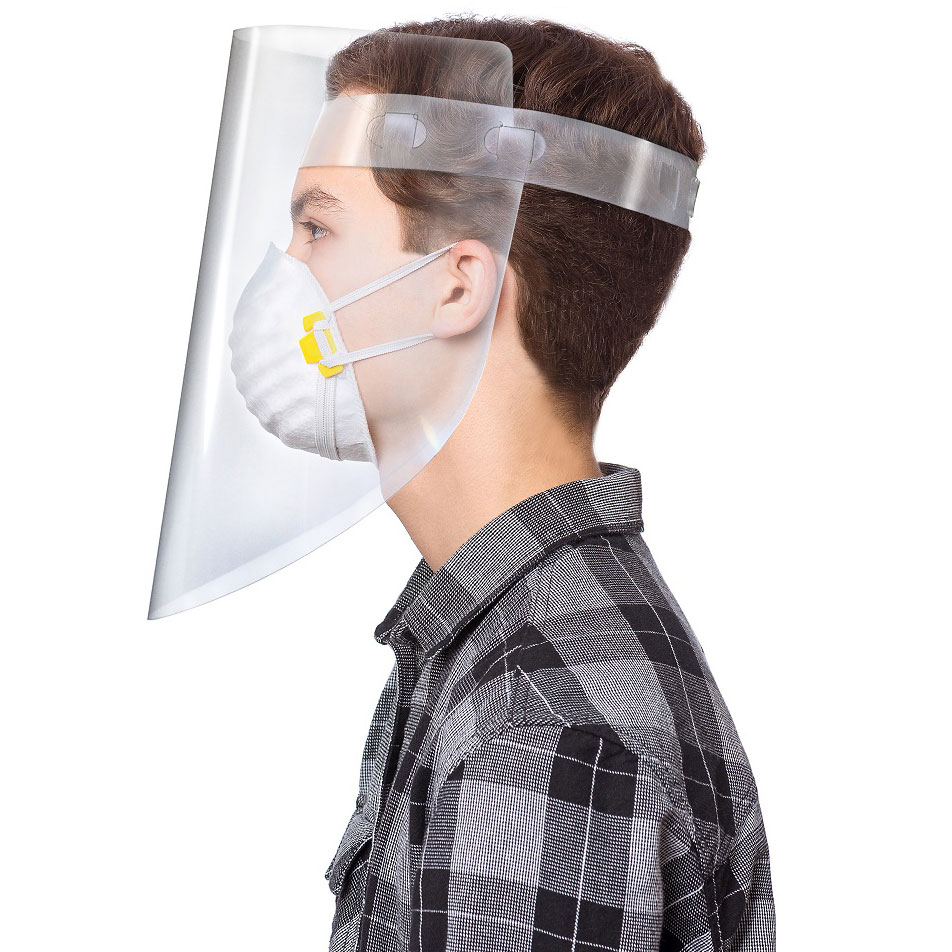 Economy Two-Piece Face Shield (Part #DFS-2-US)